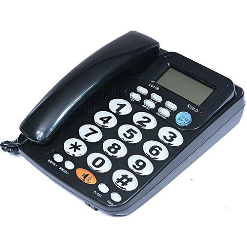Riiai Teléfono fijo de teléfono fijo con manos libres, con cable, botón grande con altavoz para ancianos y uso en el hogar