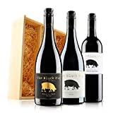 The Black Pig Red Wine Trio in Wooden Gift Box - 3 Bottles (