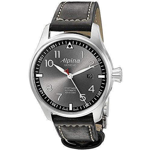 Alpina Herren Analog Automatik Uhr mit Leder Armband AL-525GB4S6