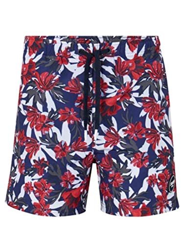 Joop! Herren Badehose Badeshort Laguna Beach Blau S M L XL XXL 3XL 100% Polyester Schnelltrocknend Tunnelzug, Größe:L, Farbe:Navy AOP 405