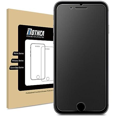 Mothca アンチグレア 強化ガラス iPhone 7 iPhone 8 iPhone 6 iPhone 6s用 保護フィルム 液晶 日本旭硝子製素材 指紋防止 反射防止 硬度9H 3D touch対応 飛散防止 キズ防止 衝撃吸収 撥油性 疎水性