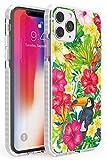 Case Warehouse Tucán Tropical Floral Impact Funda para iPhone 11 Pro TPU Protector Ligero Phone Protectora con Floral Sabroso Moda Verano Flores