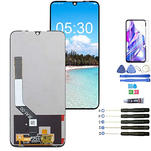YWL-OU Reemplazo de Pantalla para Xiaomi Redmi Note 7/Redmi Note 7 Pro LCD Display Digitalizador de Pantalla táctil + Herramientas + Cristal Templado (Negro)