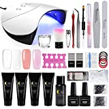 Kit Poly UV Gel Extension Construction Gel Manucure 36W UV/LED Lampe Sèche Ongle...