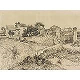 Vincent Van Gogh Farm In Provence Illustration Art Print