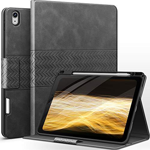 AUAUA iPad Air 4 Hülle 10.9 Zoll 2020 mit Apple Stifthalter Auto Schlaf/Aufwach (Grau)