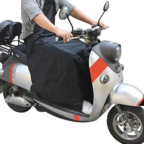 Cokomono Beinschutz Roller Nässeschutz für Motorroller Rollerfahrer universal Wetterschutz Regenschutz/schwarz MEHRWEG