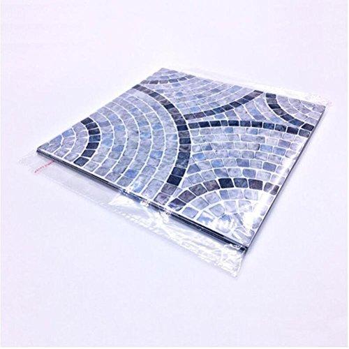 MINRAN DECOR BJ Art de tuiles Mural - Adhésif carrelage   Sticker Autocollant Carrelage - Mosaïque carrelage Mural Salle de Bain et Cuisine   - 20x20 cm - 10 pièces - TS007