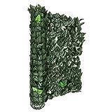 blumfeldt Fency Dark Leaf - Clôture Brise-Vue en Imitation Feuilles de 300x100 cm pour Balcon, terrasse, Jardin - Vert...