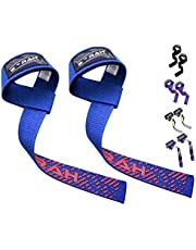 EMRAH Lifting Straps (Pair) - Weightlifting Hand Bar Wrist Support Hook Wraps, Wrist Supports Assist Grip Strength Weight Lifting Straps for Bodybuilding, Power Lifting