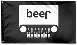 FayLagee-yx Beer Jeep Funny Drinking Flag 3 X 5 Garden Flag