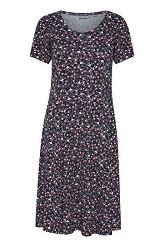 fransa Damen Kleid mit Alloverprint, Mehrfarbig (Navy Blazer Mix 69466), 42 (Herstellergröße: XL)