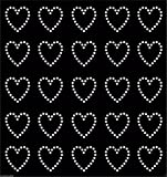 Clear 30 Rhinestone Hearts Iron-on Diamante Transfer Crystal Stone Bling Motif