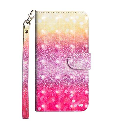 CUAgain Cover Compatibile con Nokia 5.1 Plus/Nokia X5 Pelle Silicone Portafoglio Magnetica 3D Glitter con Disegni Motivo Gomma Antiurto Resistente Custodia Protettiva Libro PU Case per Donna Uomo