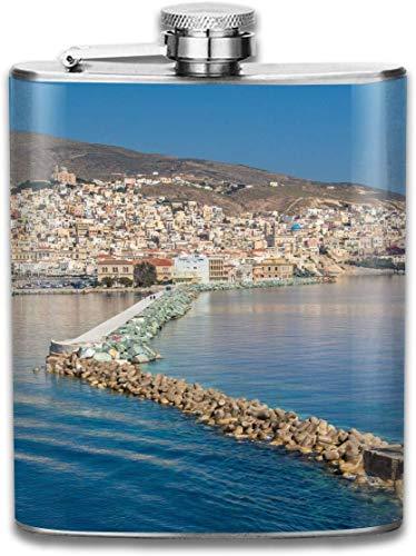 Presock flaschen für schnaps, island finger beach city mode tragbare edelstahl flachmann whisky flasche für männer und frauen 7 oz