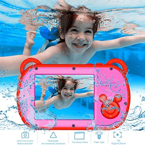 "Underwater Kids Camera, HD I080P 8X Digital Zoom, 2.7"" Screen Children's Camera with Flash, Preschool Camera Toys Waterproof Camera for Kids"