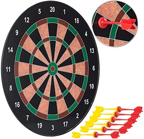 Playtastic Dart: Magnetische Dartscheibe mit 12 Pfeilen, je 6X gelb und rot, Ø 40cm (Dartspiel)
