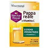 Vitarmonyl NECTAR ROYAL PAPPA REALE + VITAMINA C ● Integratore 30 capsule ● Sistema Immunitario ● Registrato Ministero Salute Italiano