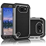 Best Galaxy S6 Active Case Supcases - Galaxy S6 Active Case, Tekcoo(TM) [Tmajor Series] [Grey/Black] Review