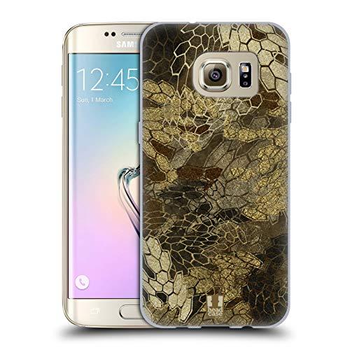 Head Case Designs Vista de Vuelo de Pato/Aves acuáticas Insignia de Camuflaje Hunting Carcasa de Gel de Silicona Compatible con Samsung Galaxy S7 Edge
