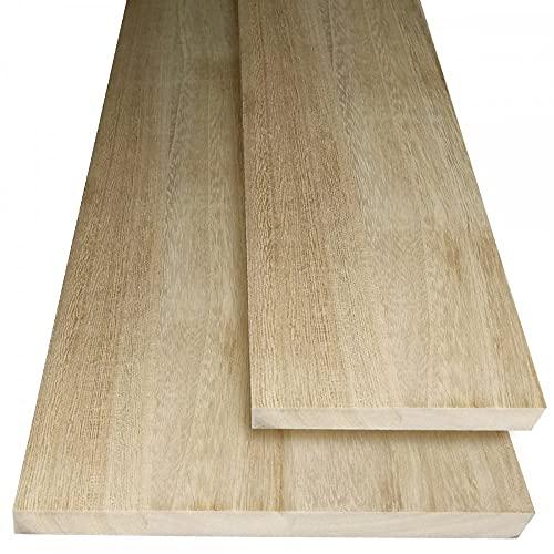 Assi in legno massello light wood levigato ultraleggero e resistente, misura 100x10x2 cm di spessore