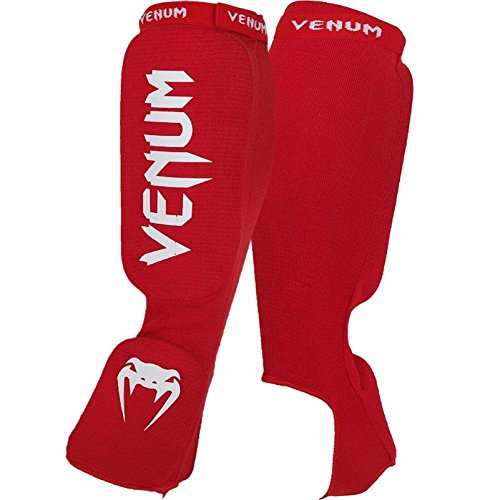 """Venum """"Kontact"""" Shin and Instep Guards, Red"""