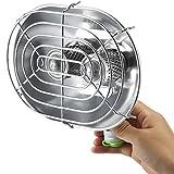 Acampar Calentamiento de Cocina/Gusanos calefacción de Cocina de Gas, aleación de Aluminio de Material + aleación de Cobre, 1050W Temperatura,Plata