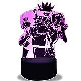 Lampe Anime figurine 3D manga LED veilleuse, 16 Couleurs Changeantes avec Télécommande pour Enfants Adultes Cadeau d'anniversaire et de vacances