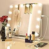 CLARFY Espejo de tocador con luces Hollywood iluminado