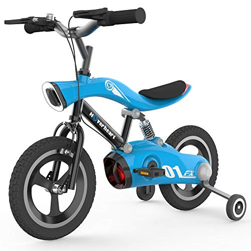 HOVER HEART Kids Bike, with Led Lights and Training Wheels