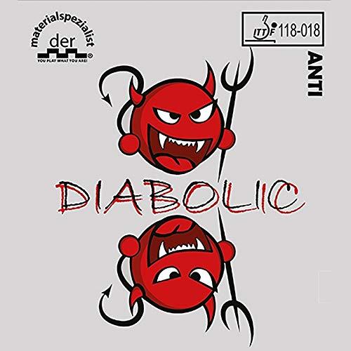 DER MATERIALSPEZIALIST Belag Diabolic inkl. Klebefolie Optionen 1,6 mm, rot
