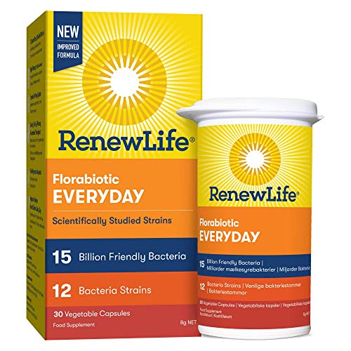 Renew Life 'Everyday' 15 Billion Friendly Bacteria | 12 Bifidobacterium and Lactobacillus Strains | One Month Supply | 30 Capsules