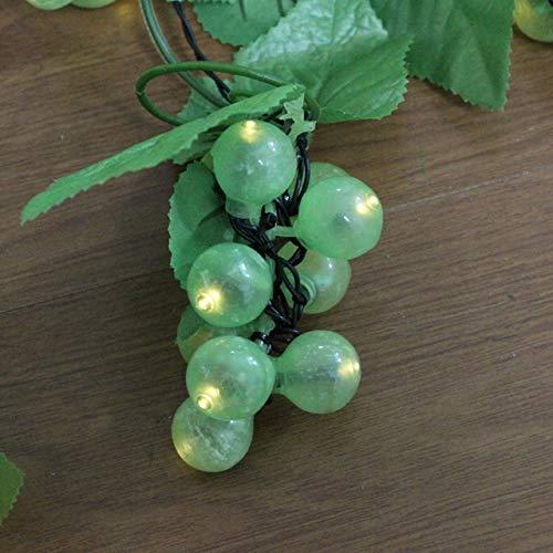 Solar Lichterkette Außen 8 Haarzopf / 80 LED-Solarlicht String im Freien, Grün, Lila Traube mit Weinwasserdicht Lichterketten Garten-Dekoration (Emitting Color : Green grape)