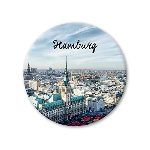Pickmotion Design Magnete - rund 56mm - Hamburg Rathaus