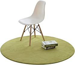 WXQ Home Textile Round Carpet Bedroom Thick Carpet Sofa Coffee Table mat Living Room Simple Carpet Computer Chair mat (Col...