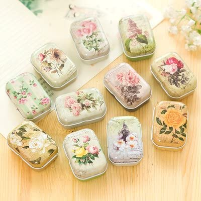 Mini Tin Box Sealed Jar Packing Jewelry Candy Small Storage Cans Coin Gift  BW