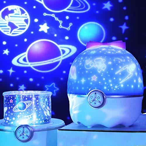 Iriisy Lampara Proyector Estrellas Infantil, Luz Nocturna Infantil, LED Pantalla Lámpara con 12 Modos Iluminación Lampara Dormir, para Niños y Bebé, Luces de la Música para Navidad, Cumpleaños