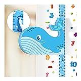 jiangye Diagrama de crecimiento de dibujos animados en 3D, regla de altura para niños, decoración de pared con forma de animal, adhesivo magnético móvil para niños y niñas