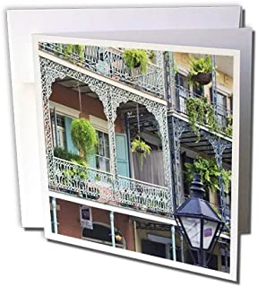 3dRose Louisiana, New Orleans, French Quarter - US19 RTI0002 - Rob Tilley - Greeting Cards, 6 x 6 inches, set of 12 (gc_90472_2)