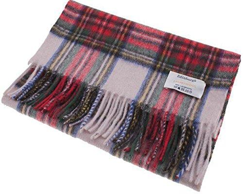 I Luv Ltd Unisex Lambswool Scarf In Stewart Dress Tartan Design 30cm Wide