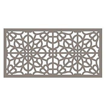 Barrette Outdoor Living 73004789 2 x4  Greige Decorative Screen Panel Fretwork