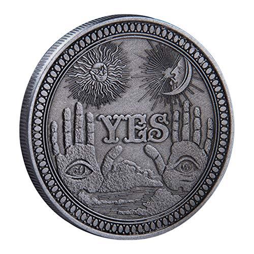 YES/NO Briefentscheidungsmünze, Ja Nein Herausforderung Münzverzierungen Entscheidungsträger Münze