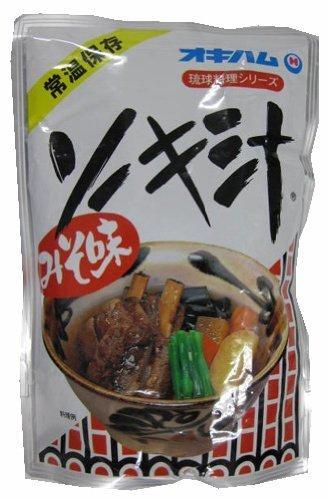 琉球料理シリーズ ソーキ汁 400g×4袋 オキハム ガッツリお肉 旨みのある骨付き豚アバラ肉と昆布のじっくり煮込み コクのあるおいしさが人気の沖縄定番スープ