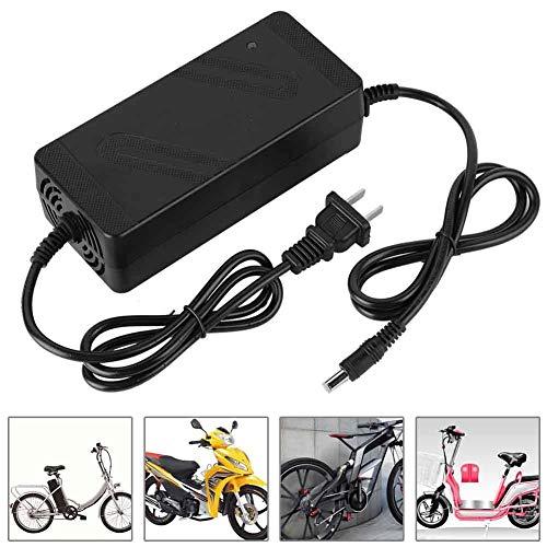 Keenso Cargador de Bicicleta eléctrica, DC HeadCN Plug 180V-220V 36V/2A, 48V/2A Cargador de batería de Litio para Bicicleta eléctrica Bicicleta(36V/2A)