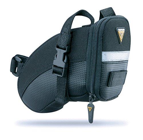 Topeak Satteltasche Mit Befestigungsriemen Aero Wedge Pack (small), Black, 18 x 8.5 x 11 cm, 0.66 Liter