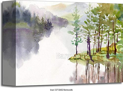 Watercolor Landscape Collection Gallery Wrapped Canvas Art (8in. x 10in.)