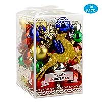ღ Natale Questa decorazione natalizia per la decorazione dell'albero di Natale è composta da 30 parti: palle di Natale, parte superiore dell'albero e decorazioni natalizie ღ Decorazione dell'albero di Natale infrangibile - Questo gioiello è realizzat...