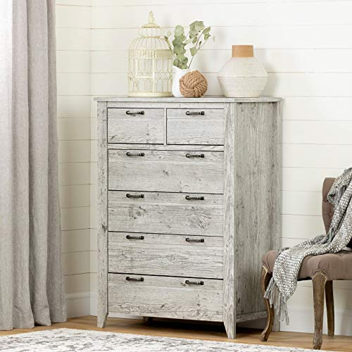 Lionel 6 Drawer Lingerie Chest, Removeable Hardware: Yes, Rustic Style: You'll Adore This Elevated Charming Farm Style Dresser with Clean Metal Hardware, Tall Legs, and Smooth Metal Drawer Slides.