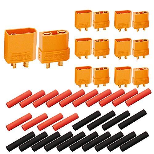 Senven 14 piezas (7 pares) adaptadores XT90 macho y hembra, conectores de...