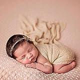 ZUMUii Butterme Bebé Recién Nacido Soft Stretchy Envuelto De Punto Bebé Foto Fotografía Accesorios(Kaki)